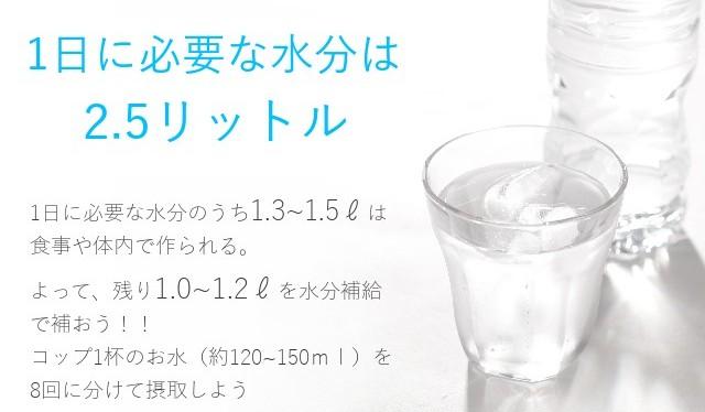 1日に必要な水分量
